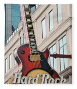 Gibson Les Paul Of The Hard Rock Cafe Fleece Blanket