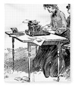 Gibson: Typing Fleece Blanket