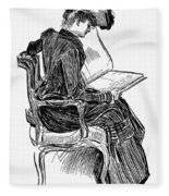 Gibson: Woman Reading Fleece Blanket