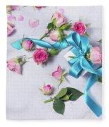 Gift And Flowers Fleece Blanket