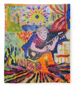 Gifted Guitar Man Fleece Blanket