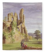Gight Castle, 1851 Fleece Blanket
