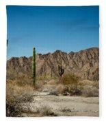 Gila Mountains And Sonoran Desert Fleece Blanket