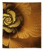 Gilded Flower Fleece Blanket