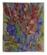 Gilded Flowers Fleece Blanket