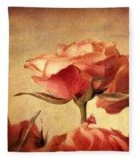 Gilded Roses Fleece Blanket