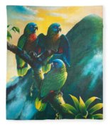 Gimie Dawn 1 - St. Lucia Parrots Fleece Blanket