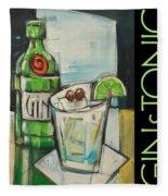 Gin And Tonic Poster Fleece Blanket
