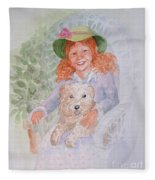 Ginger Fleece Blanket