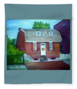 Gingerbread House Fleece Blanket