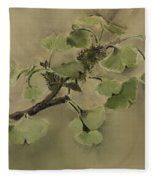 Gingko Branch Fleece Blanket
