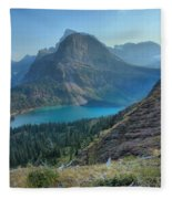 Ginnell Glacier Lake Fleece Blanket