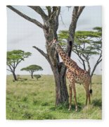 Giraffe 2 Fleece Blanket