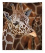 Giraffe - Camouflage Fleece Blanket