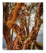 Giraffe Camouflage Fleece Blanket