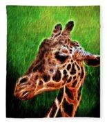 Giraffe Fractal Fleece Blanket