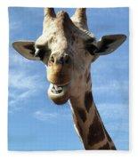 Giraffe Greeting Fleece Blanket