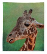 Giraffe Square Painted Fleece Blanket