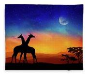 Giraffes Can Dance Fleece Blanket