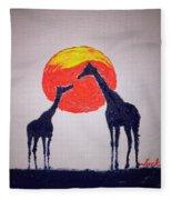 Giraffes Fleece Blanket