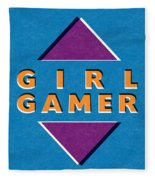 Girl Gamer Fleece Blanket