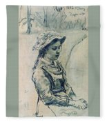Girl Hell 1882 Ilya Repin Fleece Blanket