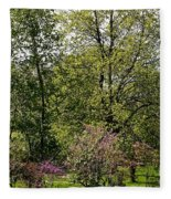 Girl In The Meadow Fleece Blanket