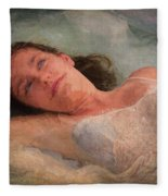 Girl In The Pool 8 Fleece Blanket