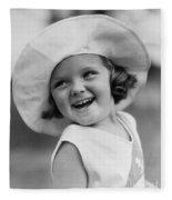 Girl In Wide Brimmed Hat, C.1930s Fleece Blanket