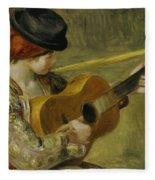 Girl With A Guitar Fleece Blanket
