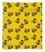 Girl With Popsicle Yellow Fleece Blanket