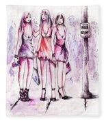Girls Night Out Fleece Blanket
