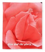 Give God The Glory Fleece Blanket