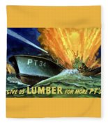Give Us Lumber For More Pt's Fleece Blanket