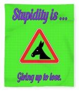 Giving Up Bigstock Donkey 171252860 Fleece Blanket