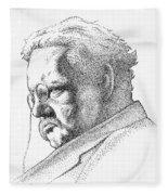 Gk Chesterton Fleece Blanket