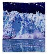 Glacier - Calving - Reflection Fleece Blanket