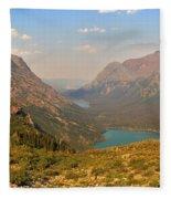 Glacier Chain Of Lakes Fleece Blanket