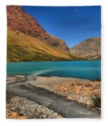 Glacier Cracker Lake Fleece Blanket