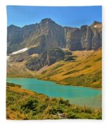 Glacier Cracker Lake Panorama Fleece Blanket