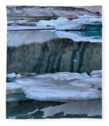 Glacier Iceberg Panorama Fleece Blanket