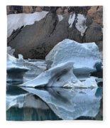 Glacier Iceberg Reflections Fleece Blanket