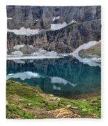 Glacier Icebergs Fleece Blanket