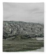 Glacier In Iceland Fleece Blanket