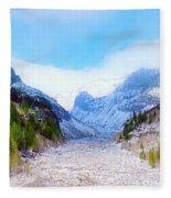 A Glacier In Mt. Rainier Fleece Blanket