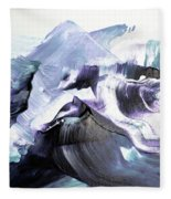 Glacier Mountains Fleece Blanket
