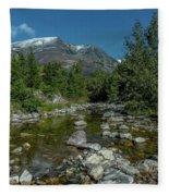 Glacier National Park-st Mary's River Fleece Blanket