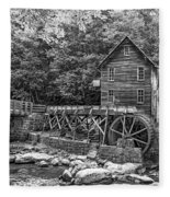 Glade Creek Grist Mill 2 Bw Fleece Blanket