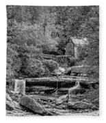 Glade Creek Grist Mill 3 Bw Fleece Blanket