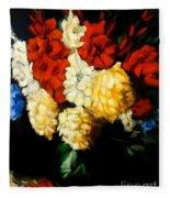 Gladiolas Fleece Blanket